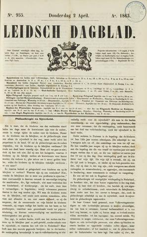 Leidsch Dagblad 1863-04-02