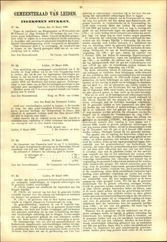 Handelingen van de Raad 1899-03-11