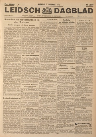 Leidsch Dagblad 1942-11-04