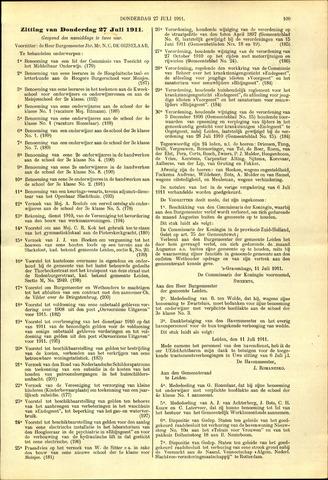 Handelingen van de Raad 1911-07-27