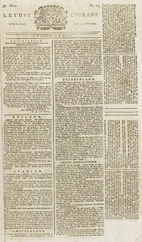 Leydse Courant 1822-01-30