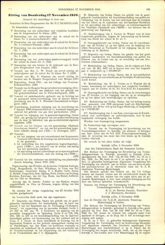 Handelingen van de Raad 1910-11-17
