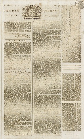 Leydse Courant 1817-08-15