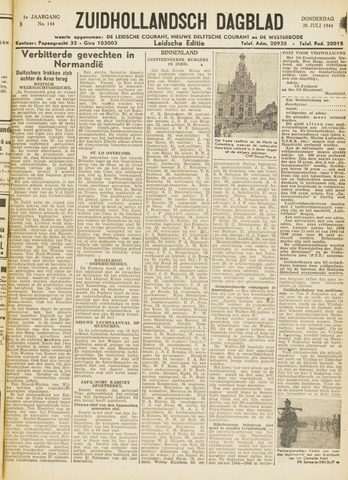 Zuidhollandsch Dagblad 1944-07-20