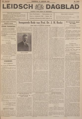 Leidsch Dagblad 1930-01-15