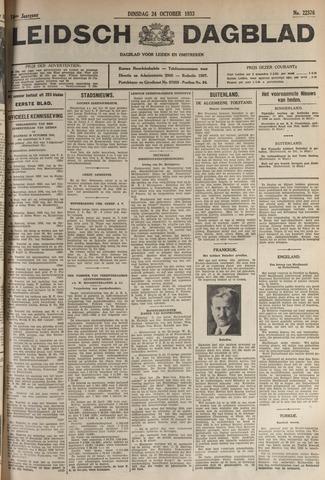 Leidsch Dagblad 1933-10-24