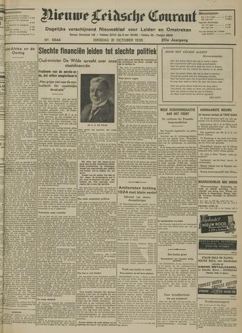 Nieuwe Leidsche Courant 1939-10-31