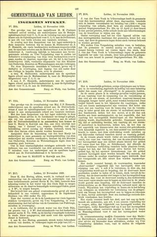 Handelingen van de Raad 1928-11-12