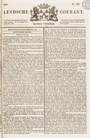 Leydse Courant 1860-11-05