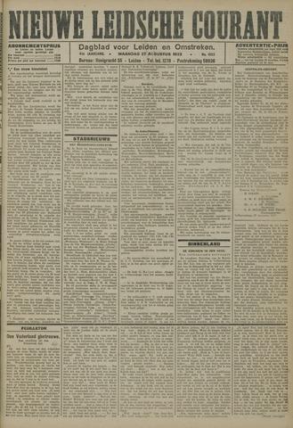 Nieuwe Leidsche Courant 1923-08-27