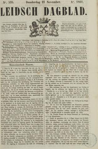 Leidsch Dagblad 1861-11-21