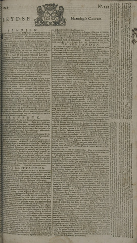 Leydse Courant 1744-11-23