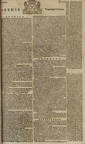 Leydse Courant 1751-10-06