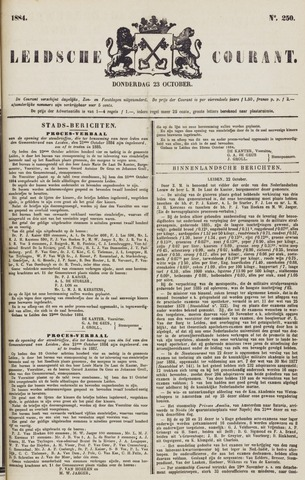 Leydse Courant 1884-10-23