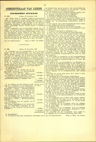 Handelingen van de Raad 1932-11-23