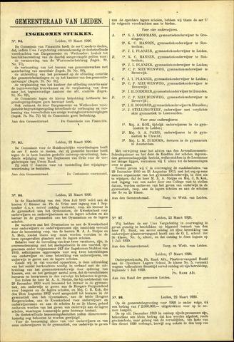 Handelingen van de Raad 1920-03-19