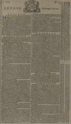 Leydse Courant 1749-11-19