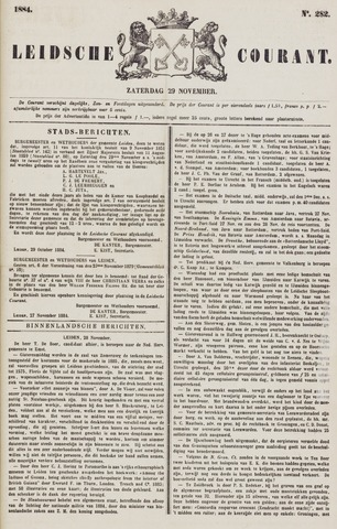 Leydse Courant 1884-11-29