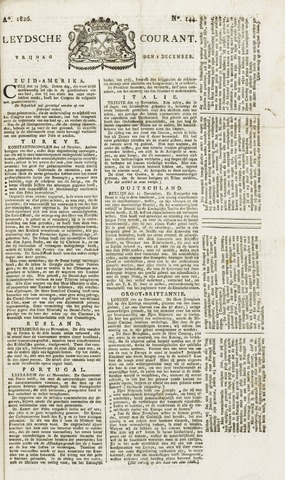 Leydse Courant 1826-12-01