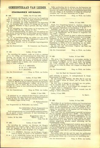 Handelingen van de Raad 1900-06-11