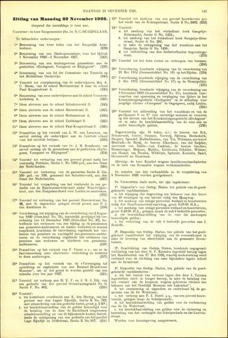 Handelingen van de Raad 1926-11-22