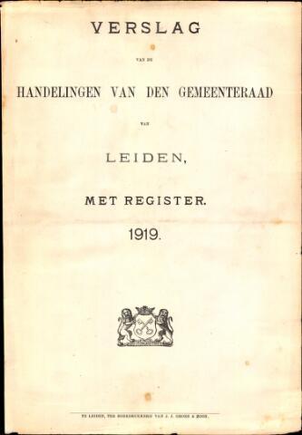 Handelingen van de Raad 1919-01-01