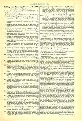 Handelingen van de Raad 1926-01-25