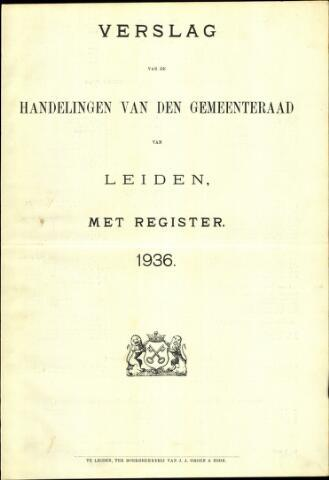 Handelingen van de Raad 1936-01-01