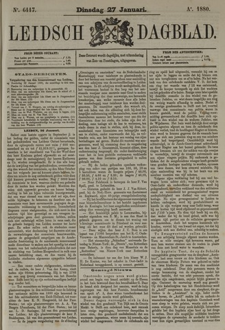Leidsch Dagblad 1880-01-27