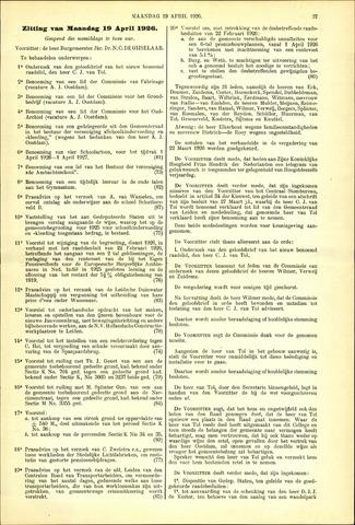 Handelingen van de Raad 1926-04-19