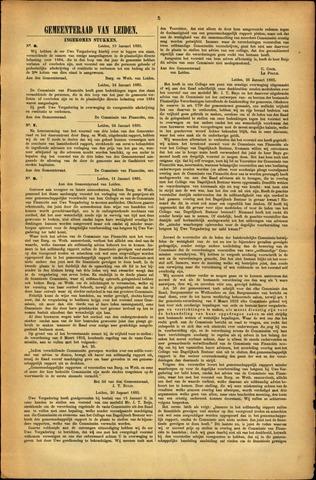 Handelingen van de Raad 1885-01-19
