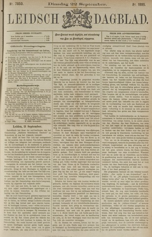 Leidsch Dagblad 1885-09-22