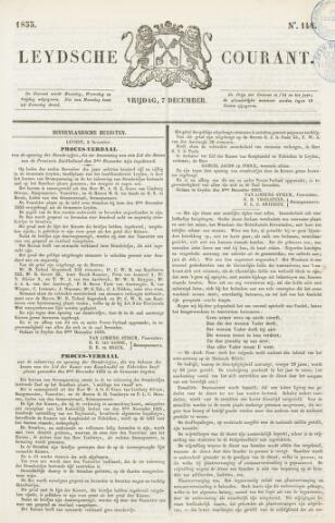 Leydse Courant 1855-12-07