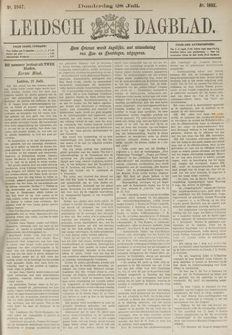 Leidsch Dagblad 1892-07-28