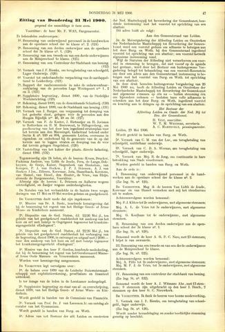 Handelingen van de Raad 1900-05-31
