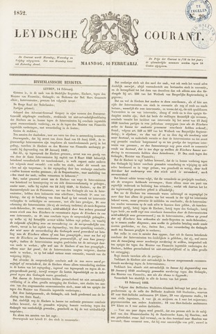Leydse Courant 1852-02-16