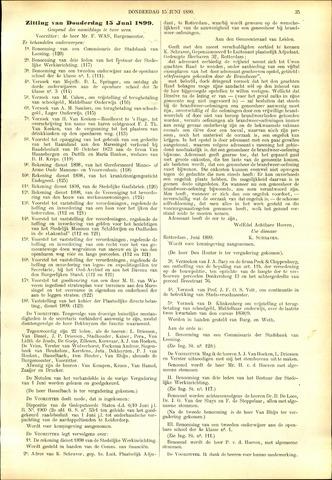 Handelingen van de Raad 1899-06-15
