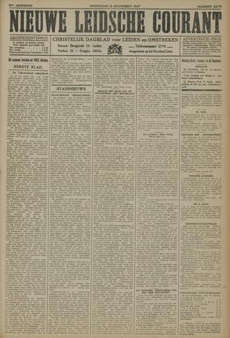 Nieuwe Leidsche Courant 1927-11-09