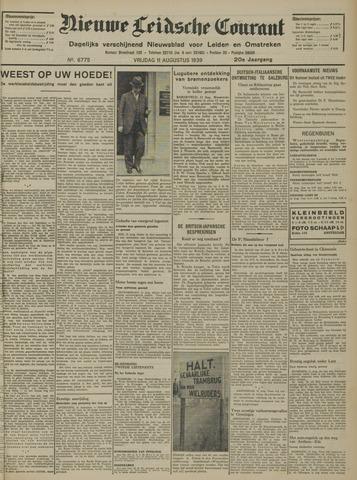 Nieuwe Leidsche Courant 1939-08-11