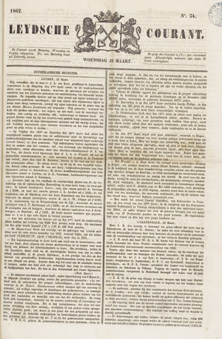 Leydse Courant 1862-03-19