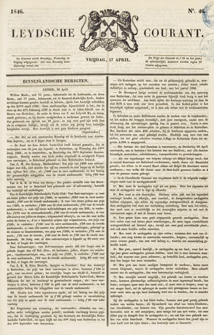 Leydse Courant 1846-04-17