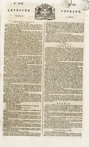 Leydse Courant 1841-04-30