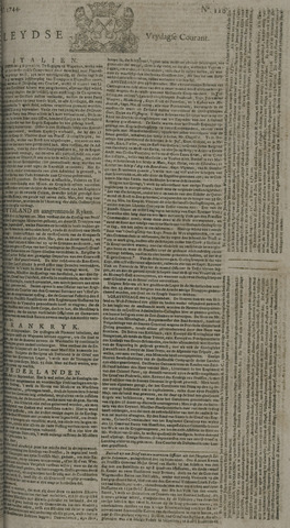 Leydse Courant 1744-09-25