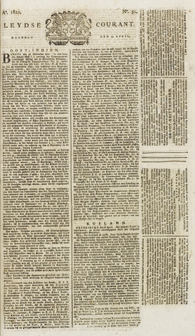 Leydse Courant 1822-04-29