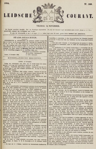 Leydse Courant 1884-11-14