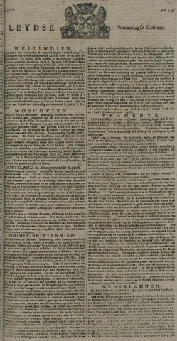 Leydse Courant 1728-10-27