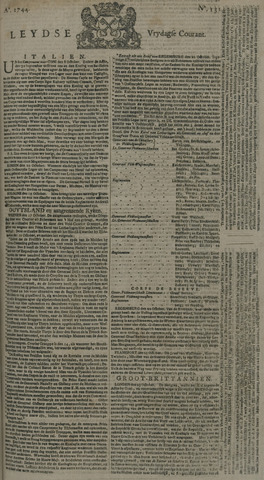 Leydse Courant 1744-10-30