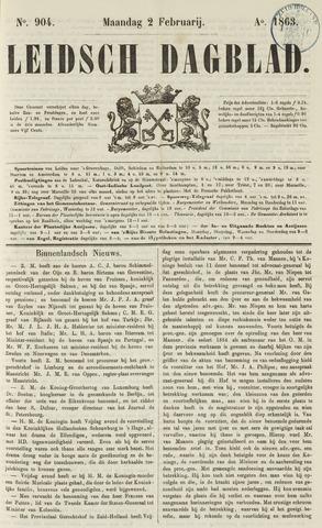 Leidsch Dagblad 1863-02-02