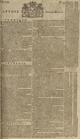 Leydse Courant 1759-04-23