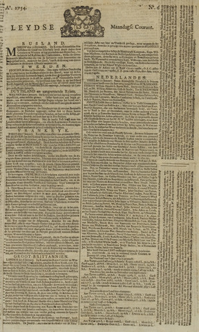 Leydse Courant 1754-01-14